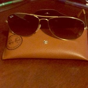 Ray Ban Gold wired sunglasses.